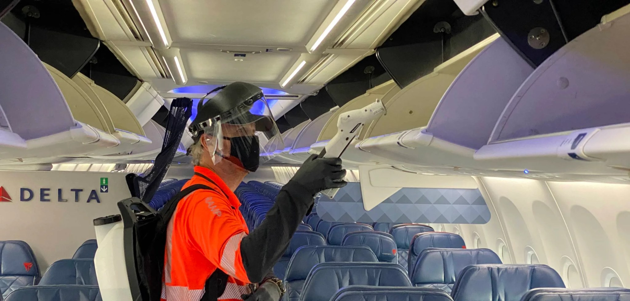 We got an inside look at how Delta is cleaning planes between every flight