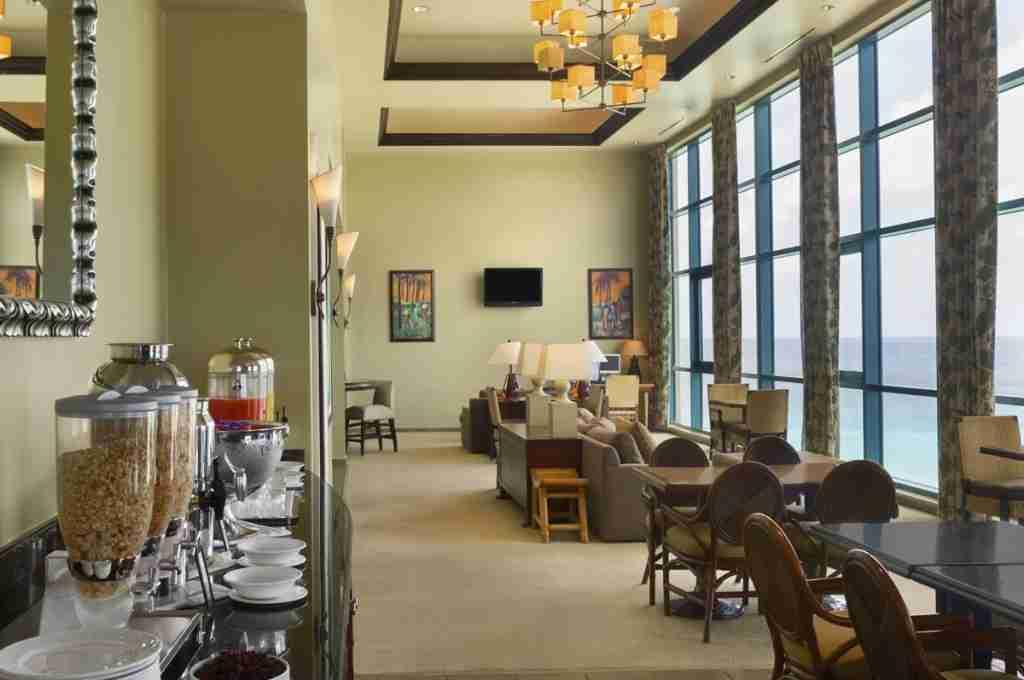 The executive lounge at the Hilton Barbados Resort. (Photo courtesy of Hilton)