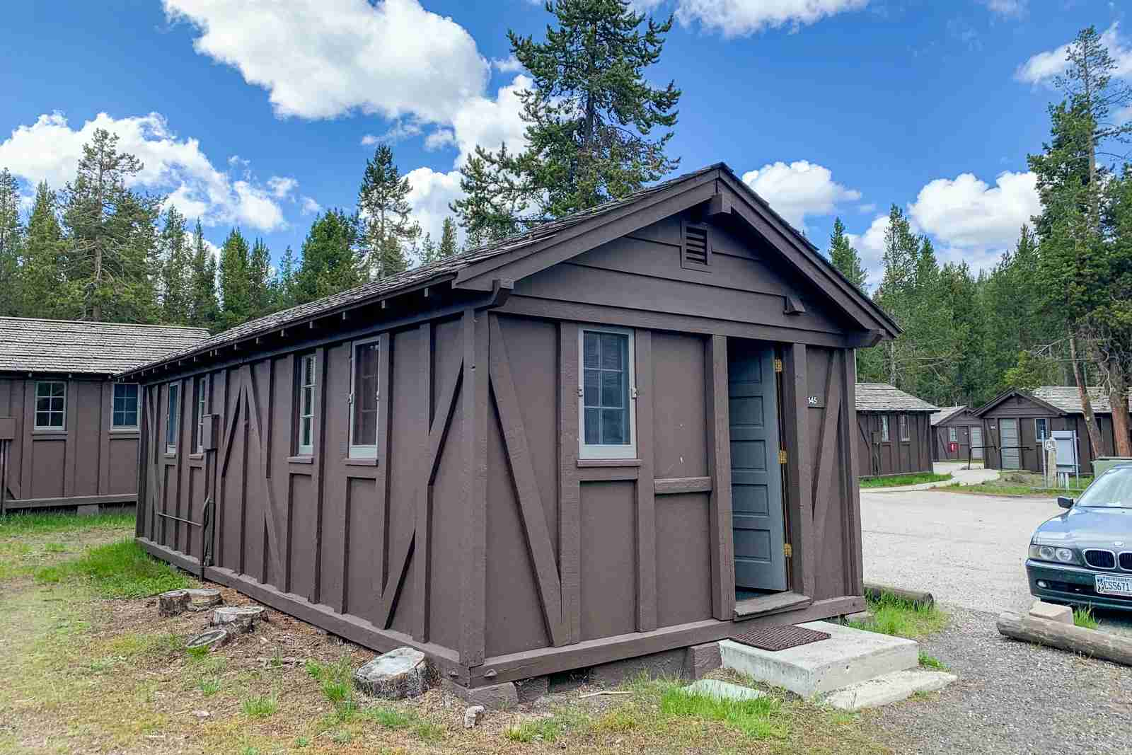 Cabins at Old Faithful Lodge in Yellowstone National Park. (Photo by Clint Henderson/The Points Guy)