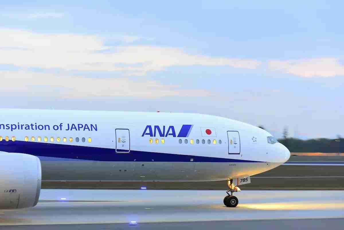 ANA Plane on Runway