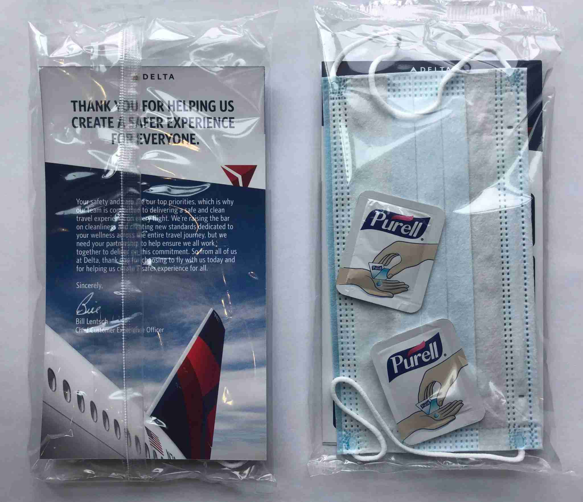 Delta clean kit. (Photo courtesy of Delta Air Lines)