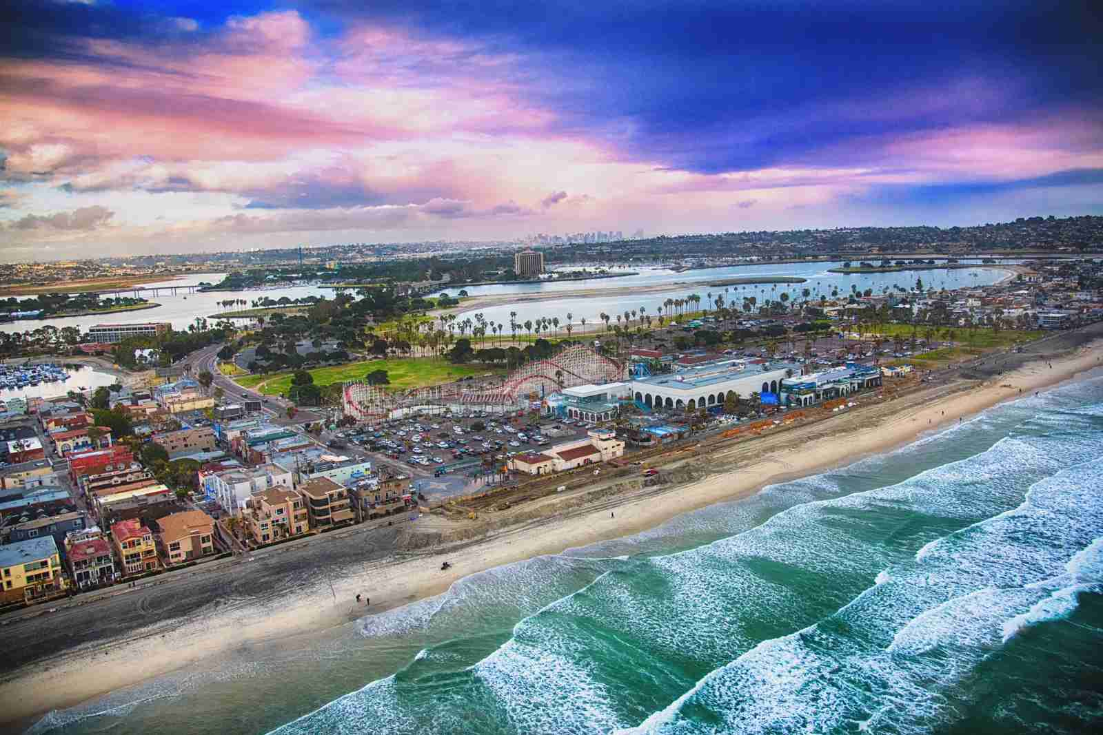 Mission Beach in San Diego. (Photo by Art Wager/Getty Images)