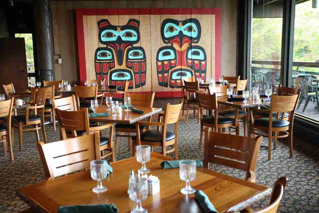 The Fairweather Dining Room at the Glacier Bay Lodge. (Photo by Brian Adams courtesy of Travel Alaska).
