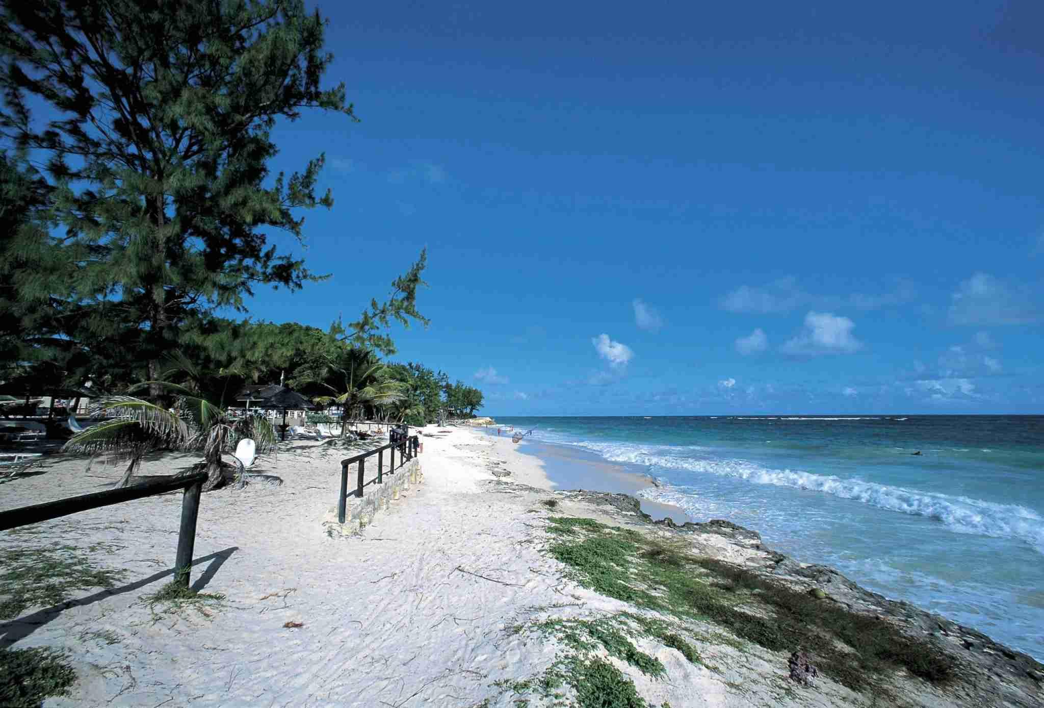 Silver Sand Bay, Christ Church Parish, Barbados. (Photo by DEA-S.-AMANTINI-Contributor Getty)