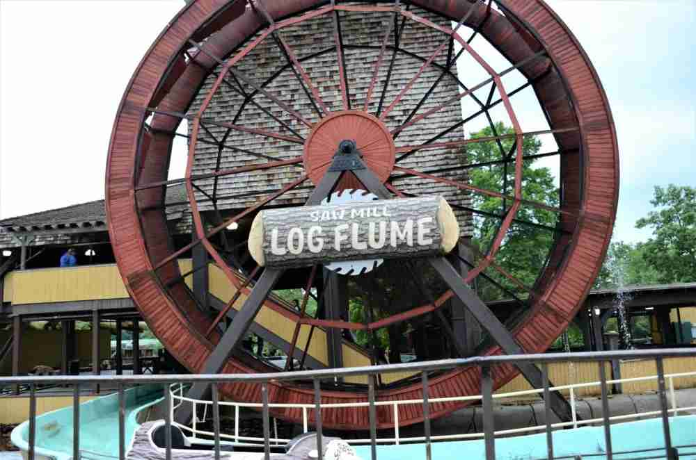 The Saw Mill Log Flume in Frontier Adventures Will Get You a Bit Wet (photo credit Matthew Minucci)