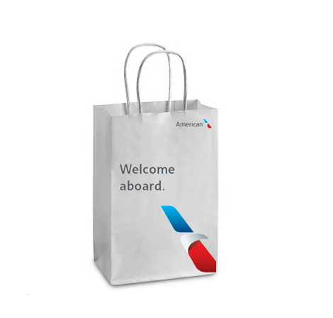 American service bag. (Image courtesy of American Airlines)