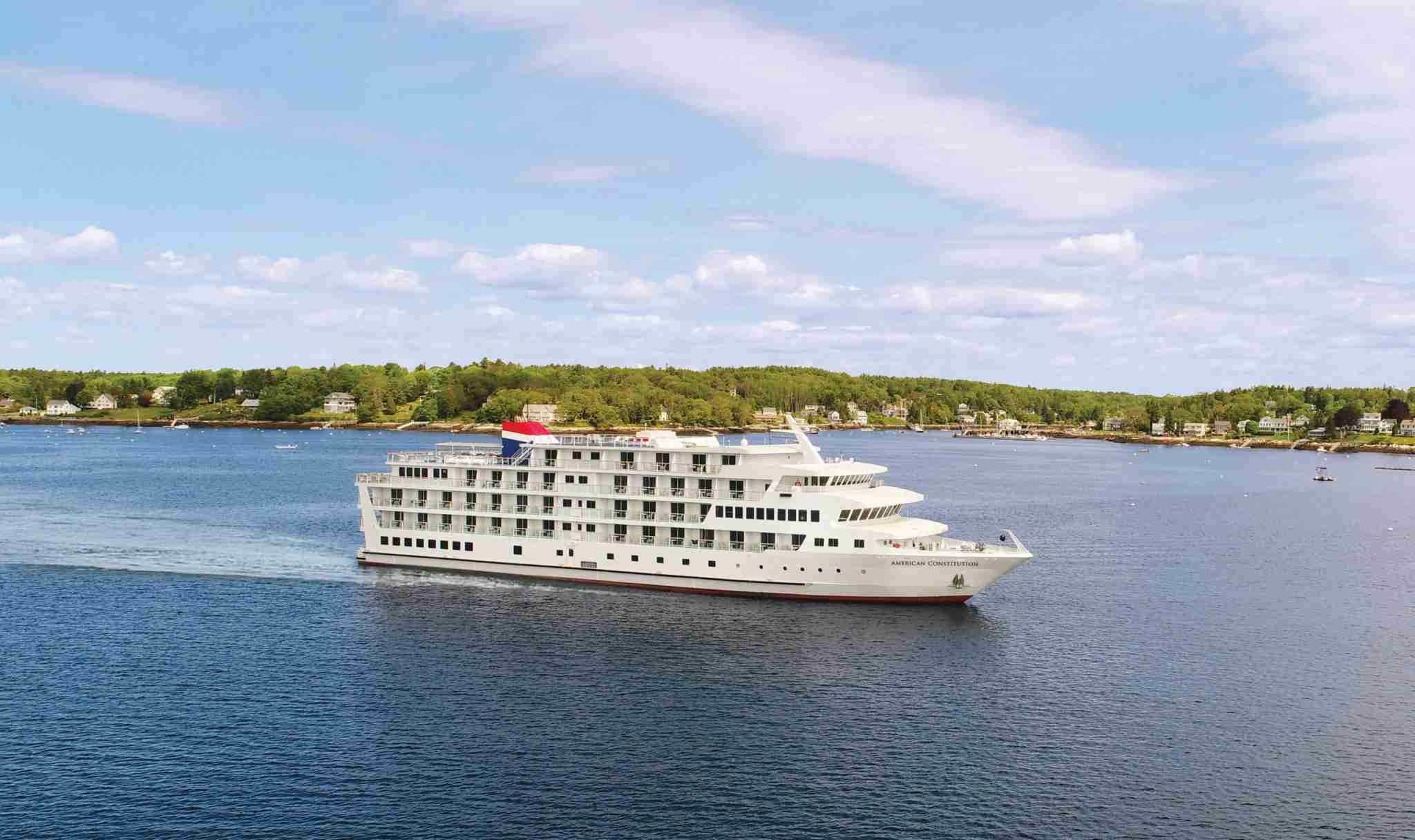 American Cruise Lines operates the 175-passenger American Constitution in New England. (Photo courtesy of American Cruise Lines)