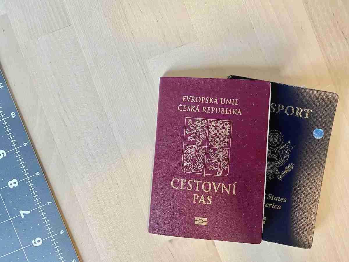 Czech and American Passport
