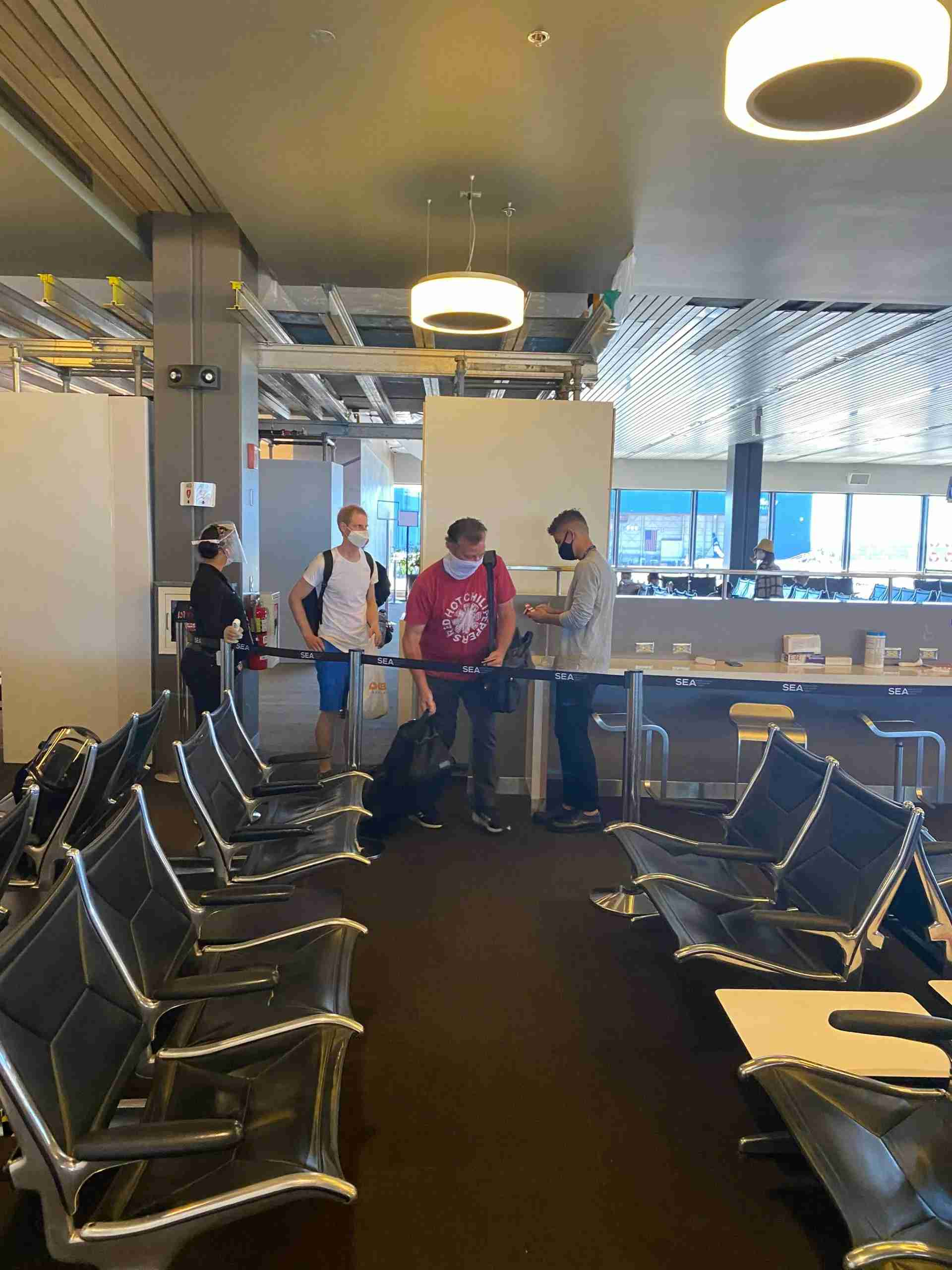 Temperature checks being conducted at Seattle for Incheon-bound flight on Delta
