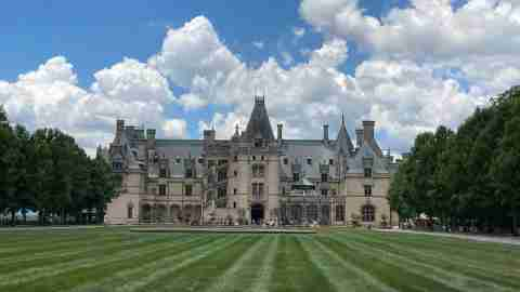 A view of the Biltmore Estate in Asheville, North Carolina