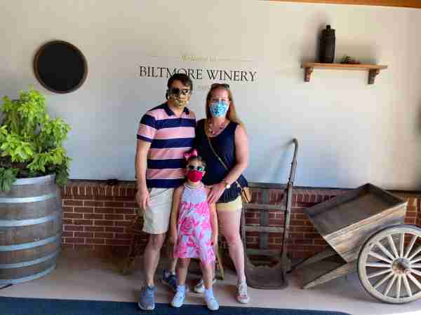 Nick Ewen and his family at the Biltmore Estate winery