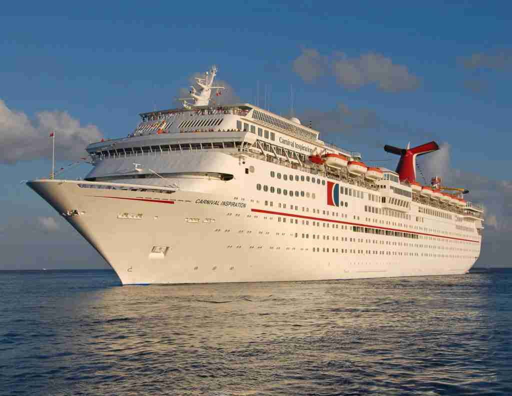 The Carnival Inspiration cruises off the coast of Cozumel, Mexico. The 2,052-passenger cruise ship operates year-round four- and five-day western Caribbean cruises from Tampa. (Photo by Andy Newman/Carnival Cruise Lines)