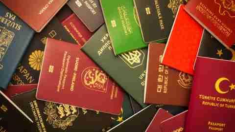Pile of Passports