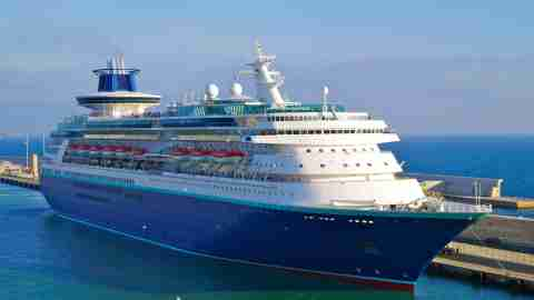 Royal Caribbean's Sovereign of the Seas, as it looked while sailing for Pullmantur Cruises