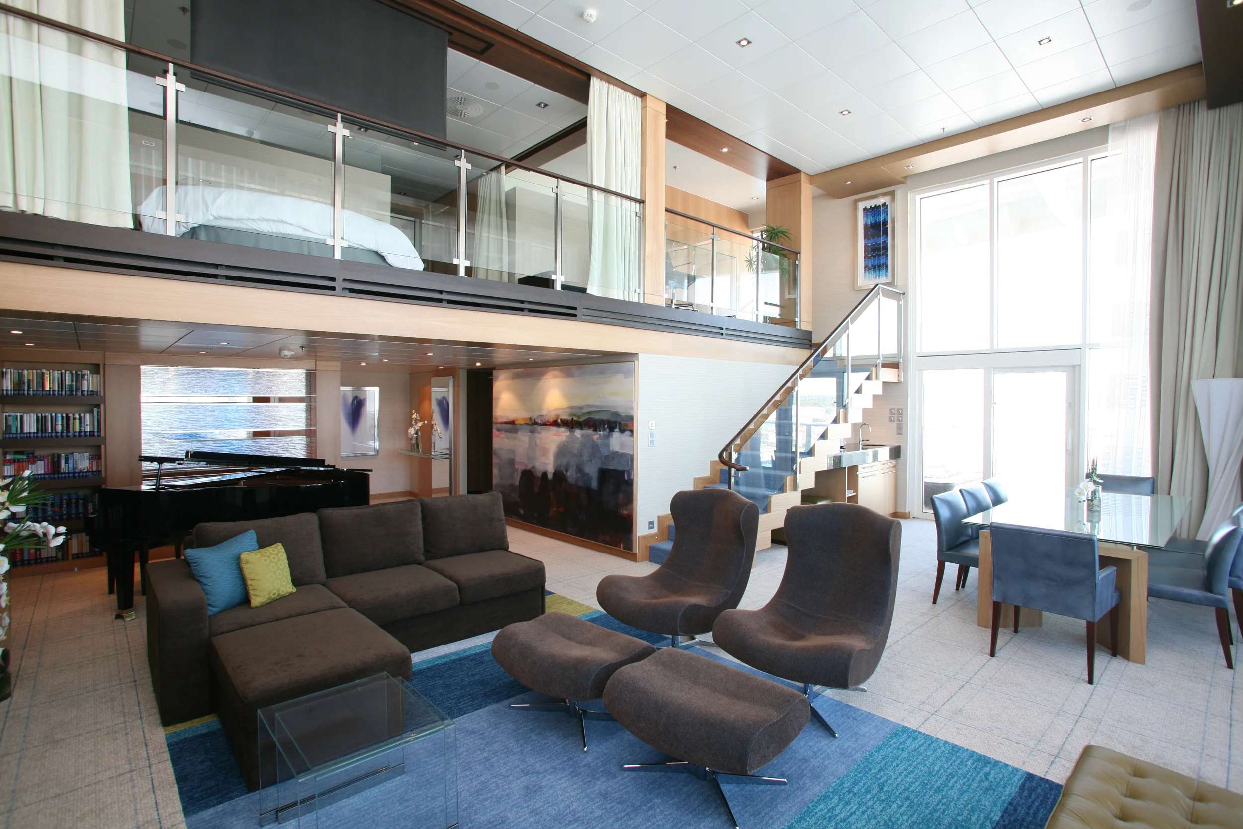 A Royal Loft Suite on Royal Caribbean's Oasis of the Seas. (Photo courtesy of Royal Caribbean)