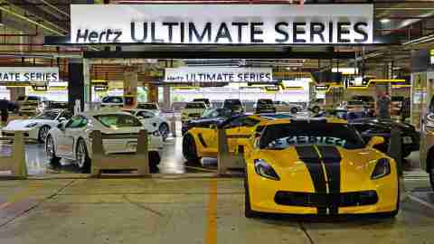 High End Cars in Hertz Ultimate Series Lot