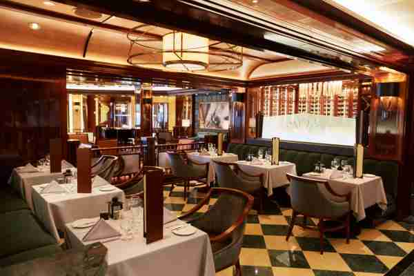 The Crown Grill steakhouse on Majestic Princess. (Photo courtesy of Princess Cruises)