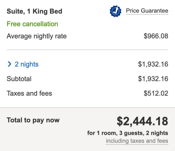 Screen shot courtesy of Hotels.com