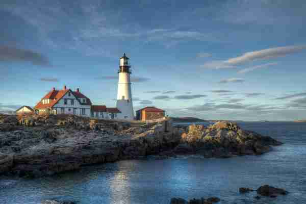 Portland Head Light at sunset (Image by Kenneth C. Zirkel/Getty Images)