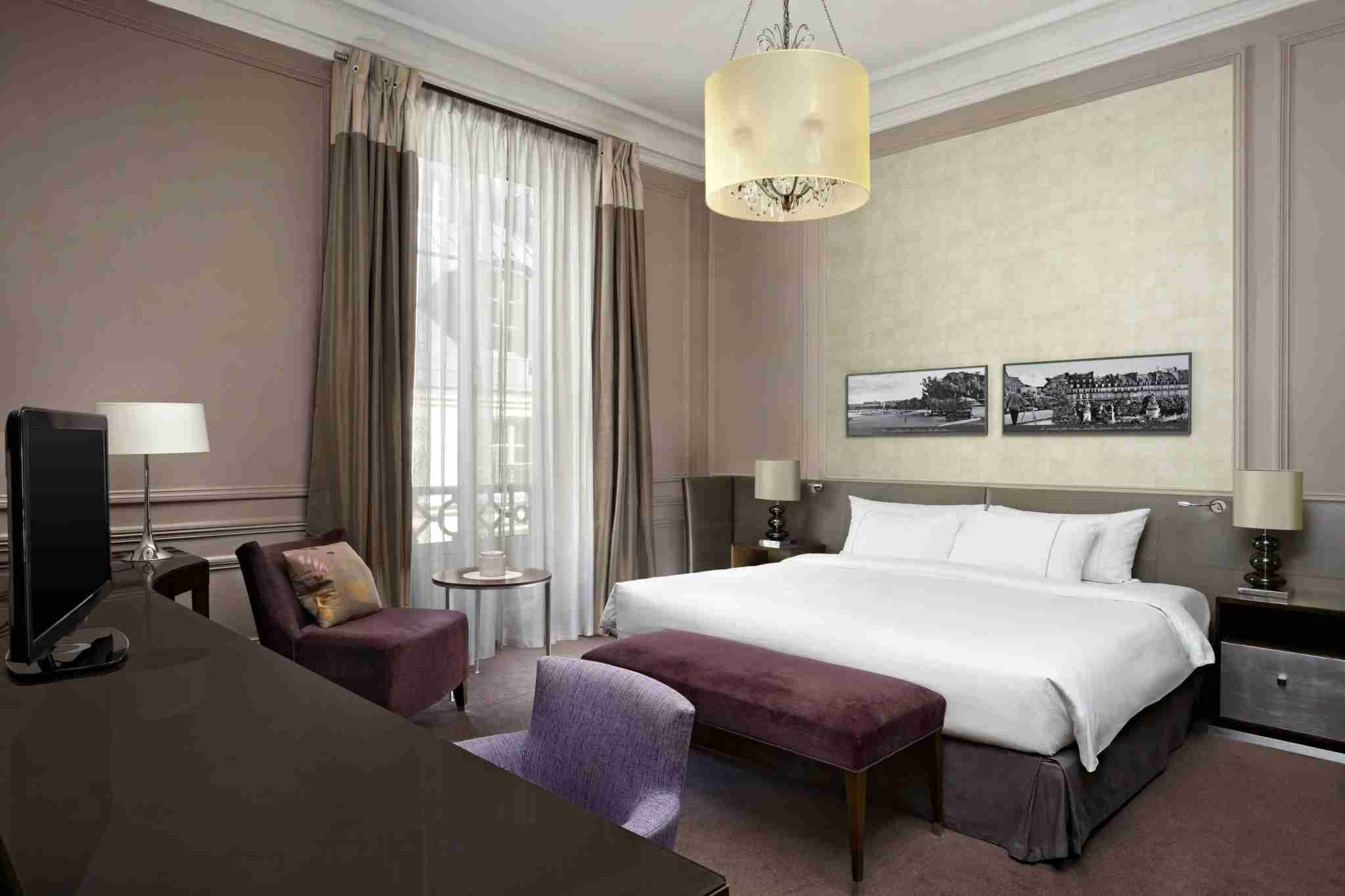 A deluxe guest room at The Westin Paris – Vendome. (Photo courtesy of the hotel)