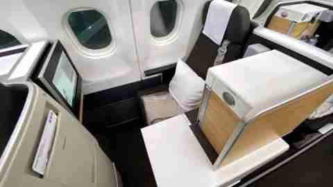 Swiss A340 Business Class Seat