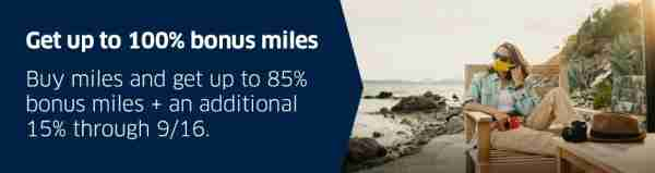 United September Buy Miles Promotion