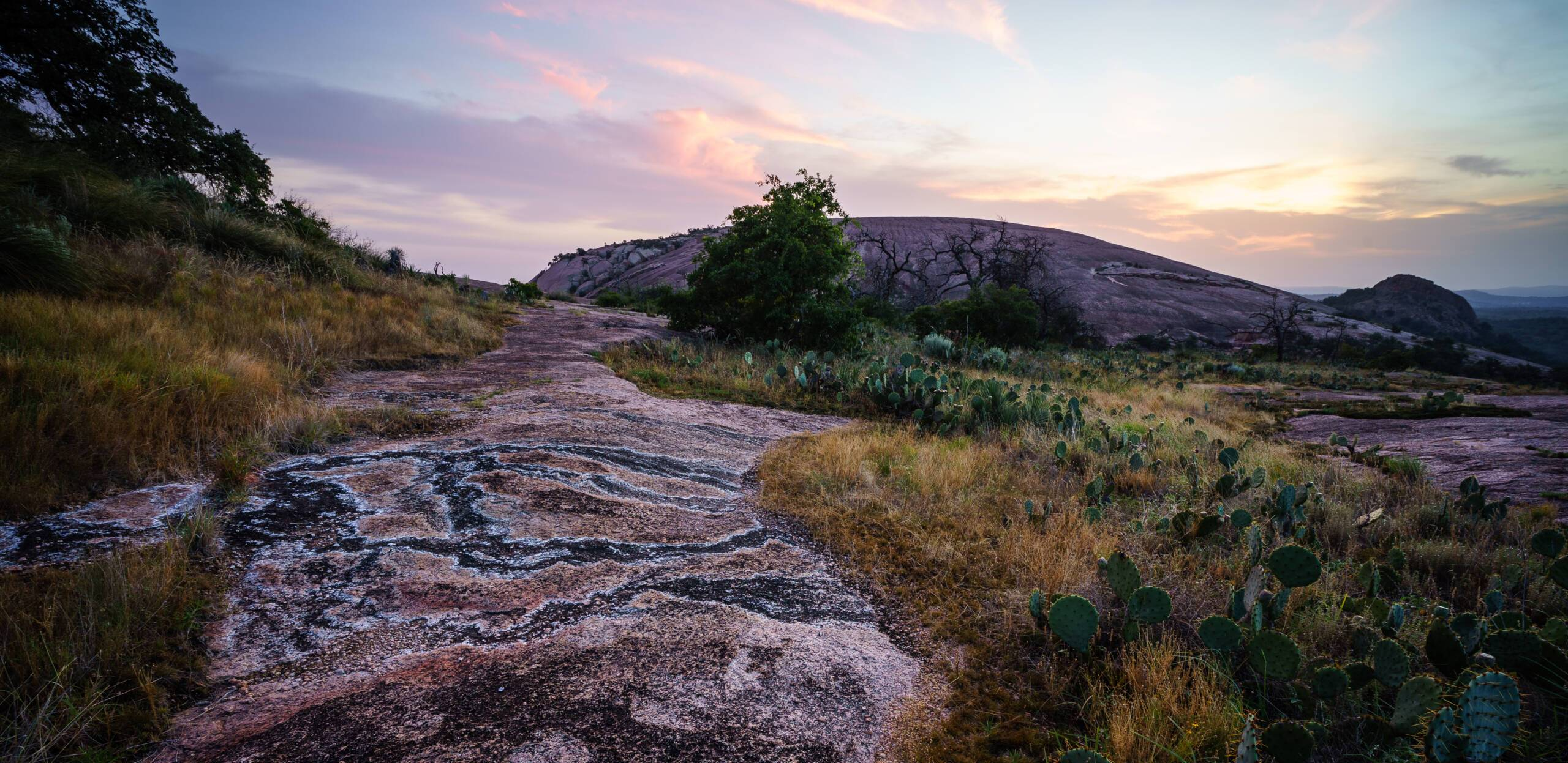 Enchanted Rock at sunrise is, well, enchanting. Photo by Daniel Mullins/Shutterstock.