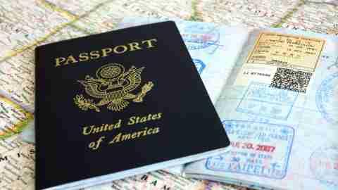 Passport visa page
