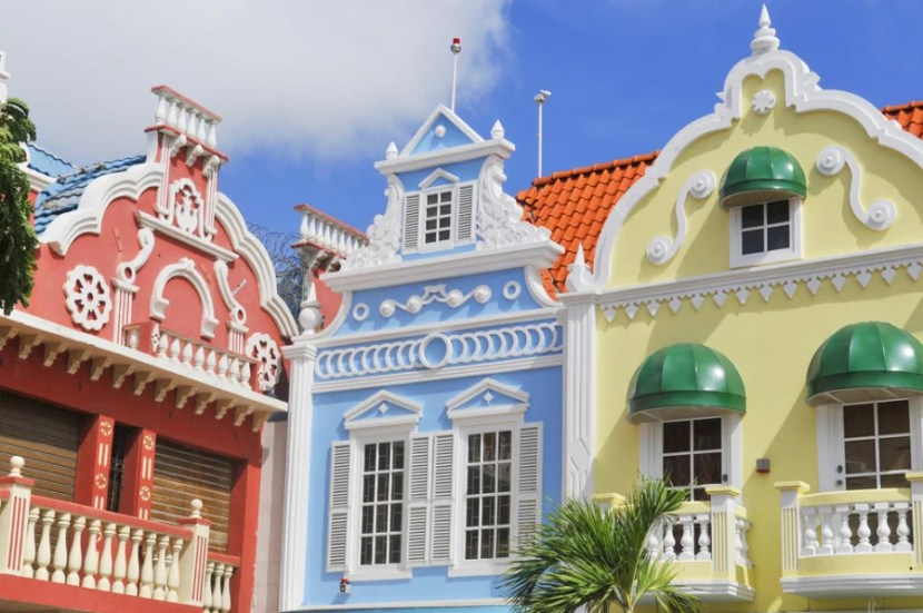 Dutch architecture in Oranjestad, Aruba - Courtesy of Shutterstock