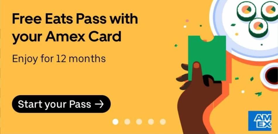 Image result for amex uber eats gold card
