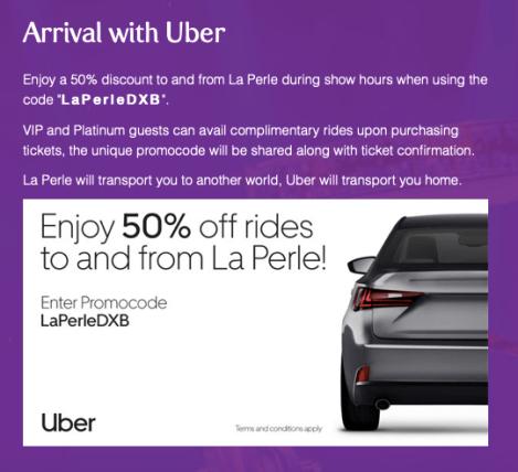 la perle by dragone promo code uber dubai uae
