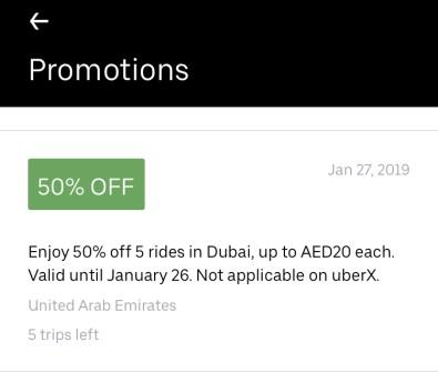 Uber Promo Code Dubai And Abu Dhabi Uae The Points Habibi