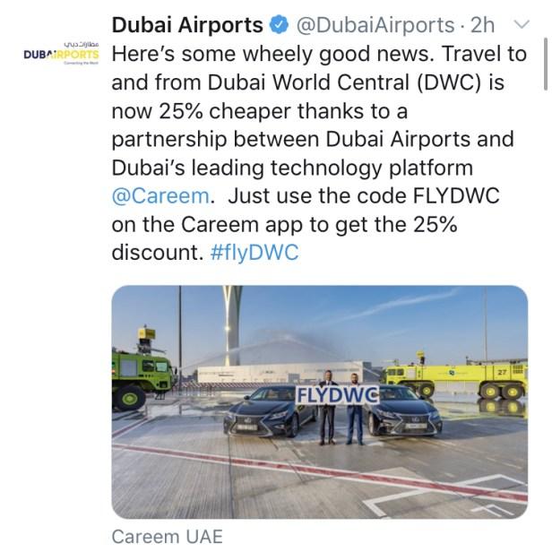 careem dwc airport dubai uae promo code expo 2020