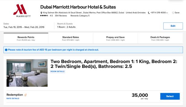 dubai marriott harbour hotels suites uae