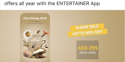 entertainer app flash sale 40 percent off uae