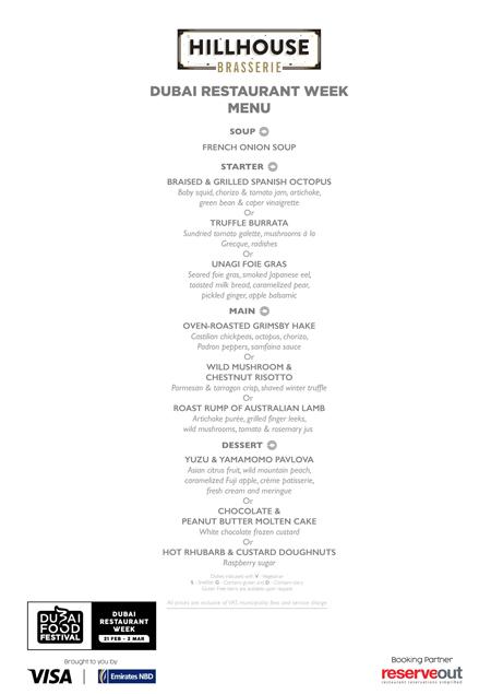 Hillhouse Brasserie Dubai Restaurant week menu review uae