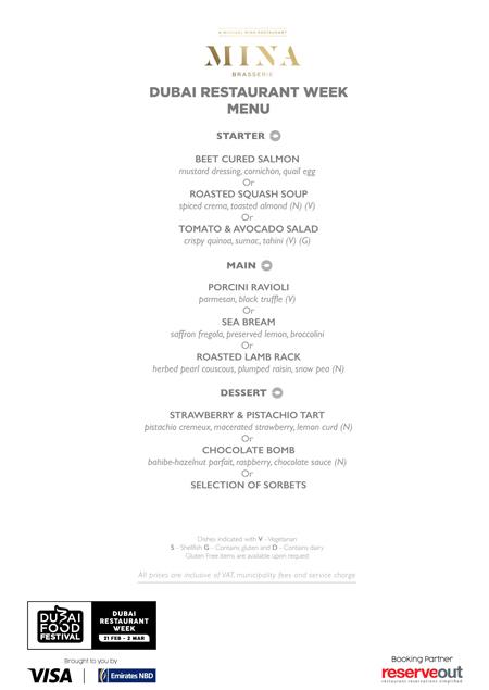 mina brasserie Dubai Restaurant week difc menu review uae
