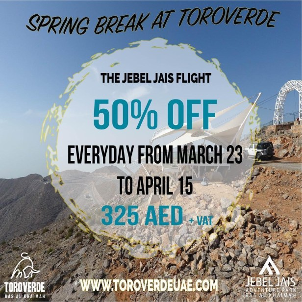 jebel jays flight offer zipline was al khaimah rak longest Dubai UAE