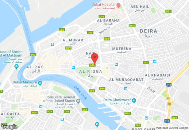 Hyatt place dubai wasl district location map uae