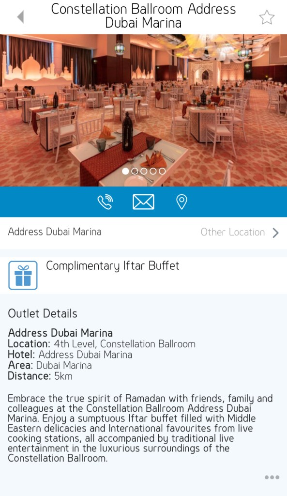 constellation ballroom iftar address dubai marina uae