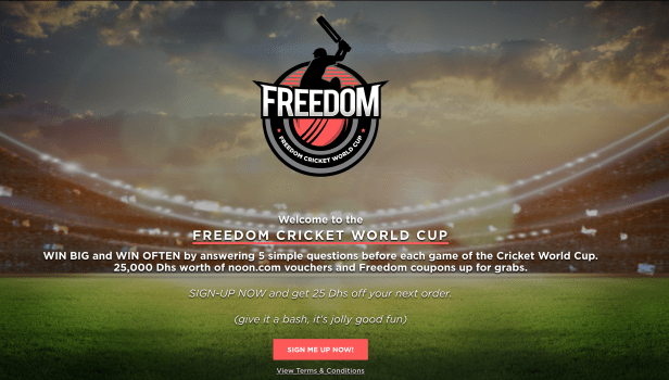 freedom pizza coupon cricket world cup 2019 dubai abu dhabi sharjah united arab emirates uae competition quiz