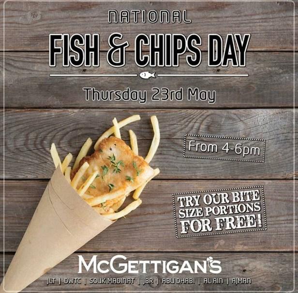 mcgettigans free fish chips national day dubai ajman abu dhabi jlt dwtc jbr al ain souk madinat jumeirah may 23 2019 uae