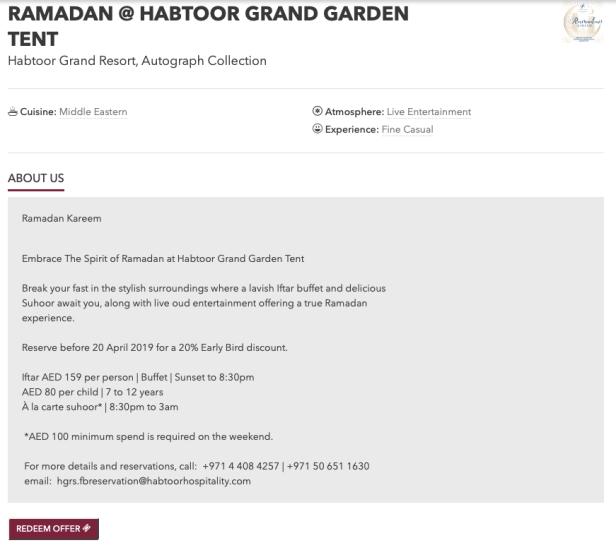 ramadan with marriott habtoor resort grand garden tent autograph collection bonvoy iftar suhoor dubai uae