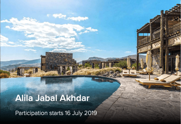 alila hotels world of hyatt points jabal akhdar muscat oman category 6 25,000 al hajar mountains