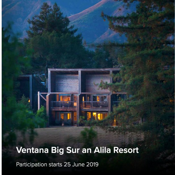alila hotels world of hyatt ventana big sur resort california usa united states of america