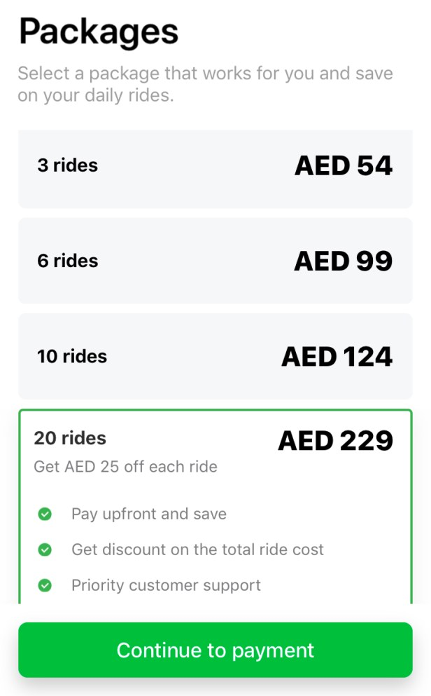 careem rides packages careemnow discounted discount deal offer coupon promo cashback redeem rewards dubai uae
