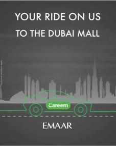 careem dubai mall free ride