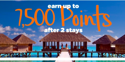 new hilton honors promotion 7500 bonus points hhonors 2 stays