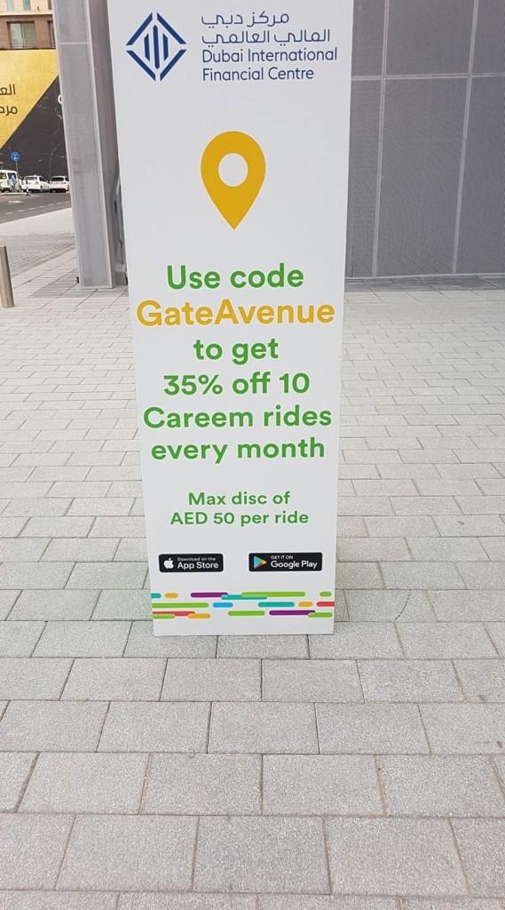 careem promo code gate avenue difc dubai uae