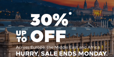 hilton honors flash sale 30% off europe middle east africa weekend stays weekends emea october 2019 march 2020 dubai uae thepointshabibi